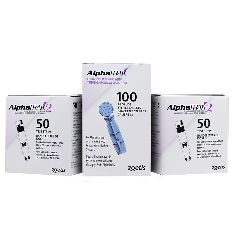 2 AlphaTRAK 2 Test Strips plus 1 Lancet